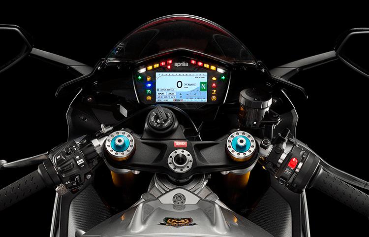 Moto RSV4 tablero